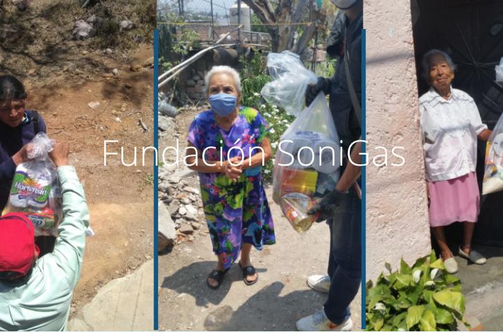 Fundación Sonigas continúa entregando despensas en México